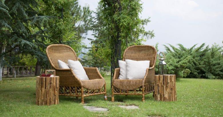 decoração campestre | Cadeira, Grama, Decoração, Móveis, Bambu, Madeira