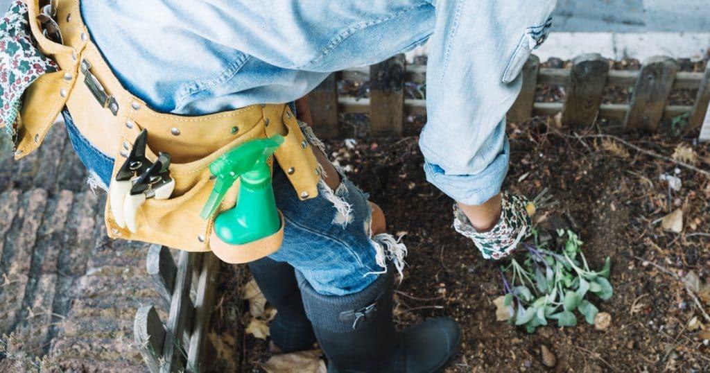 inseticidas caseiros | Crop woman planting sprouts in garden